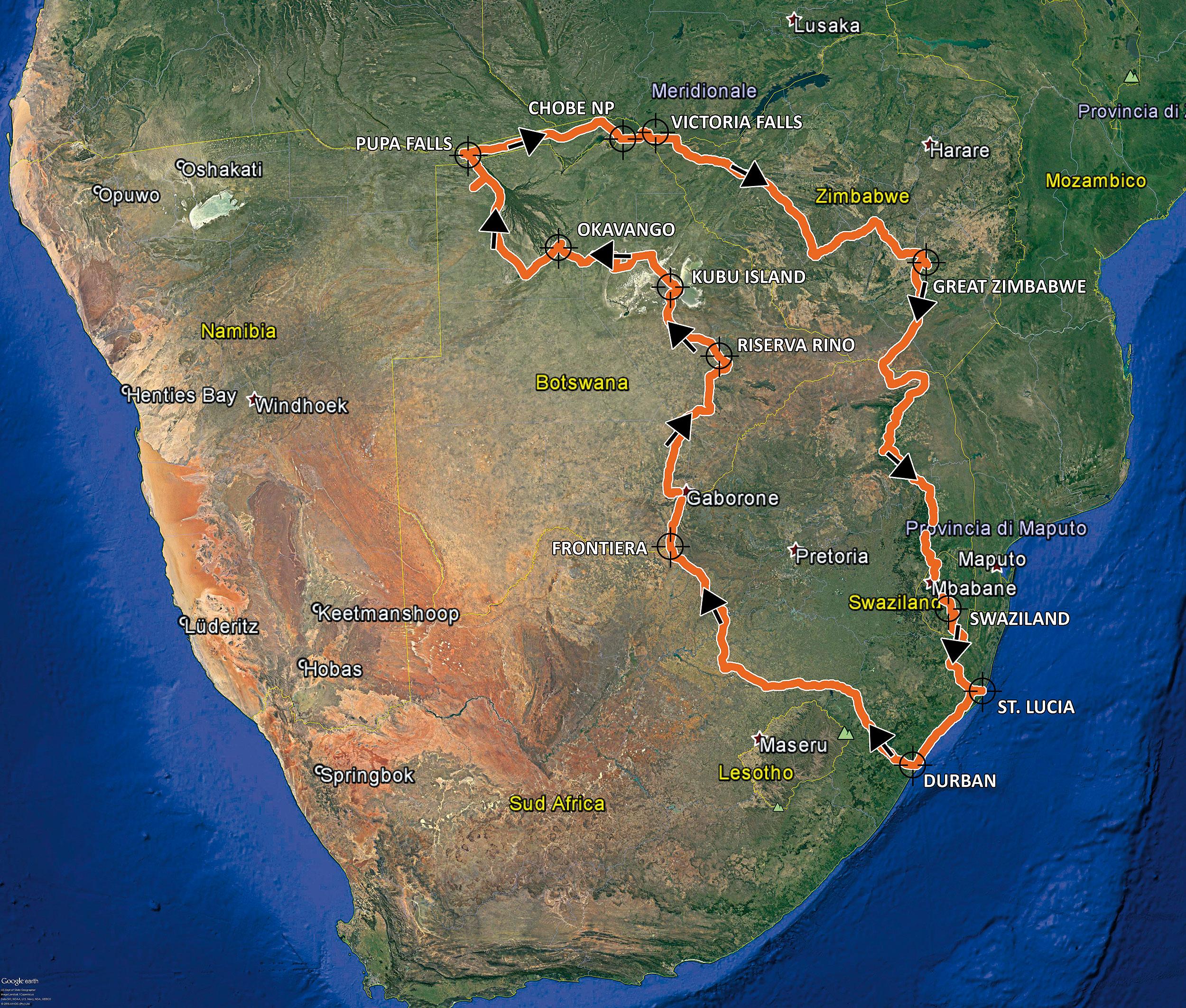 4 Paesi attraversati, 3 parchi nazionali, 28 giorni di viaggio, 6000 Km